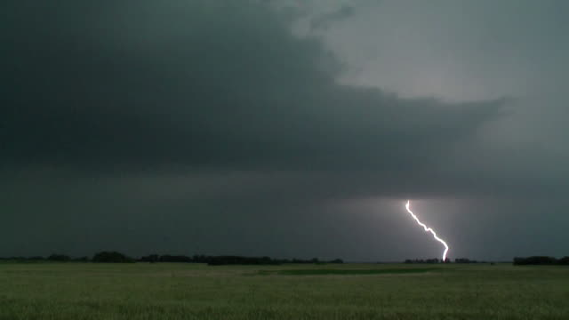 Cloud To Ground Lightning Bolt, Supercell Thunderstorm, Storm Clouds