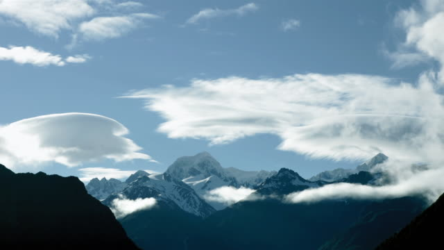 T/L, WS, Clouds above Mount Tasman, South Island, New Zealand