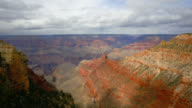 TIME LAPSE WIDE SHOT clouds and shadows over South Rim of Grand Canyon, Arizona