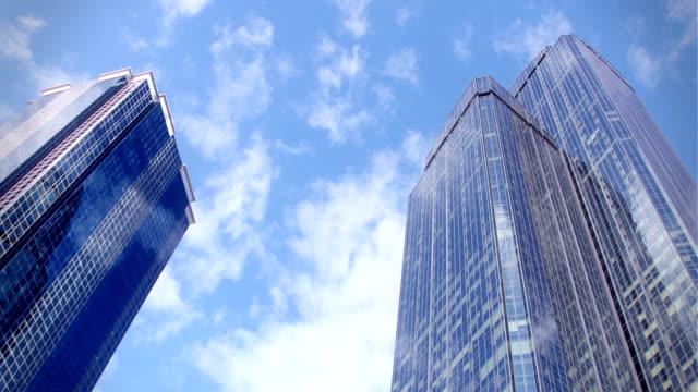 Wolken und Wolkenkratzer