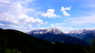 Clouds Building over Wide Angle Aspen Snowmass Colorado Rocky Mountain Valley Summer Time-lapse