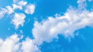 clouds in blue sky timelapse 4k