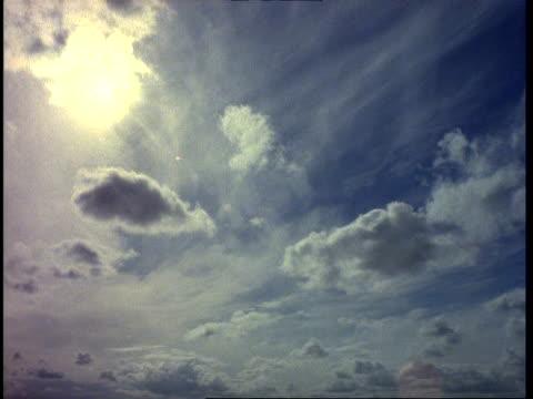 T/L WA clouds moving across sun, England