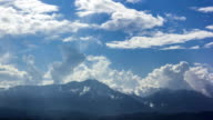 Clouds moving covered mountains,Time lapse