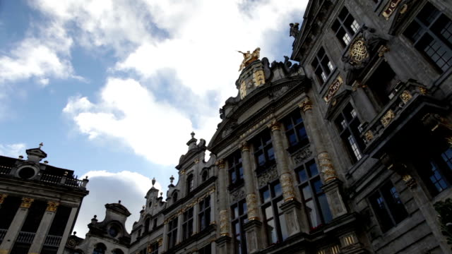 Clouds over the Grand Place in Brussels.
