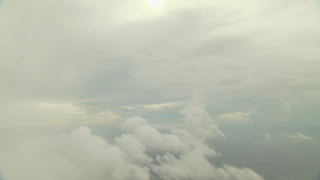 Clouds over the ocean from the air, Australia