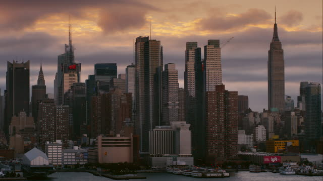 Clouds Roll behind the Manhattan Skyline