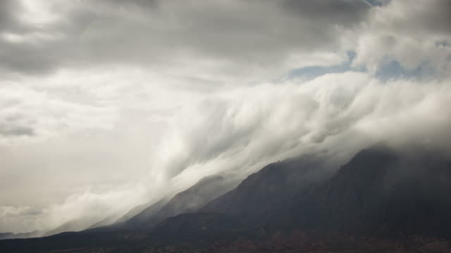 Clouds rolling over the Andes in Argentina