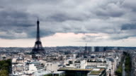 Clouds Time Lapse Over Paris France