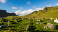 T/L Cloudscape over cemetery in Iceland
