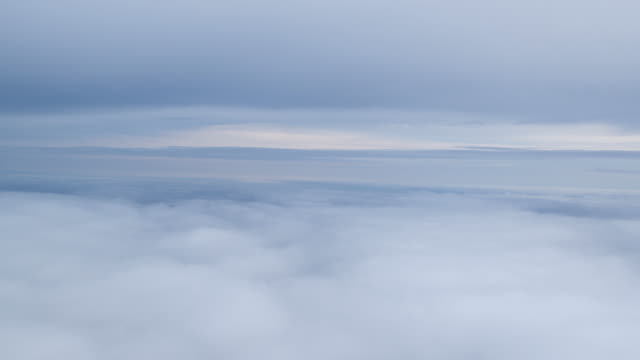 Cloudscape through aeroplane window
