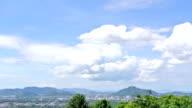 Cloudscape time-lapse against Phuket Cityscape island thailand
