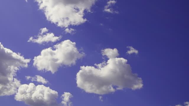 T/L, MS, Cloudscape, white fluffy clouds against blue sky, Australia