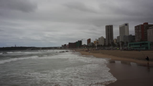 Cloudy beach day in South Africa