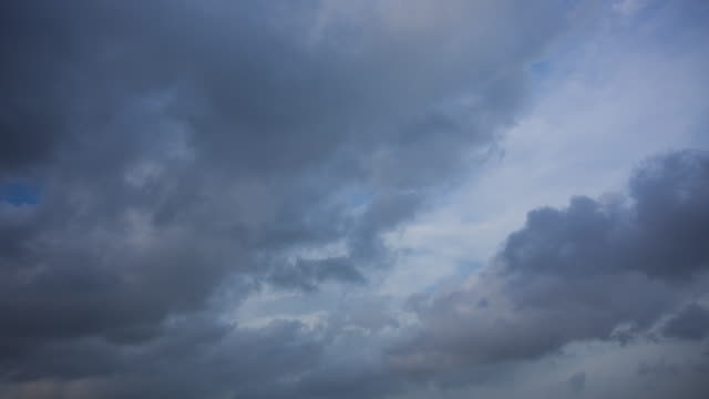Cloudy Sky with Storm Cloud Coming Time Lapse