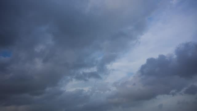 Bewölkter Himmel mit Gewitterwolke kommen Zeitraffer