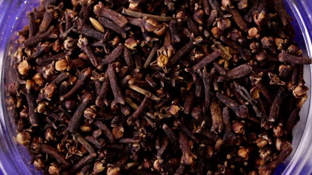 Clove spices. Kitchen herbs background