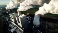 AERIAL: Coal burning Power Plant