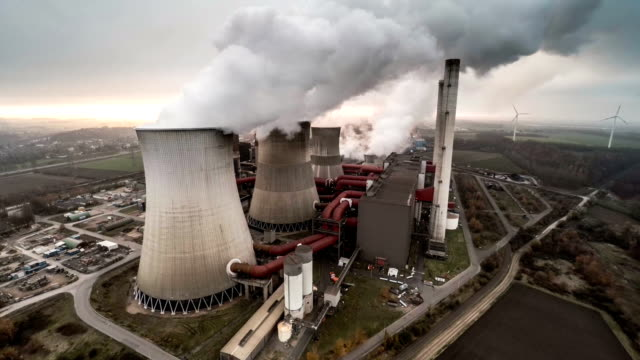 AERIAL: Coal fired power plant