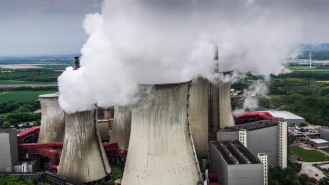 Luchtfoto: Kolengestookte elektriciteitscentrale