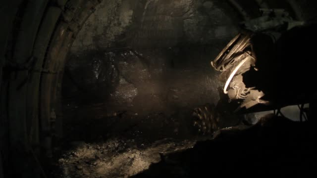 Coal miners work underground at the cutting face in the Piniowek coal mine operated by Jastrzebska Spolka Weglowa SA in Pawlowice Poland on Wednesday...