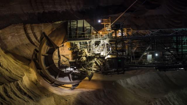 Coal Mining at Night