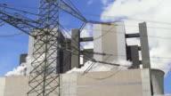Coal Power Plant und elektrische Pylon Echtzeit