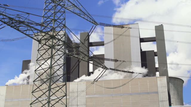 Coal Power Plant and Electric Pylon Real Time