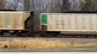 A coal train rolls through Osceola Iowa on November 02 2014 in Osecola Iowa