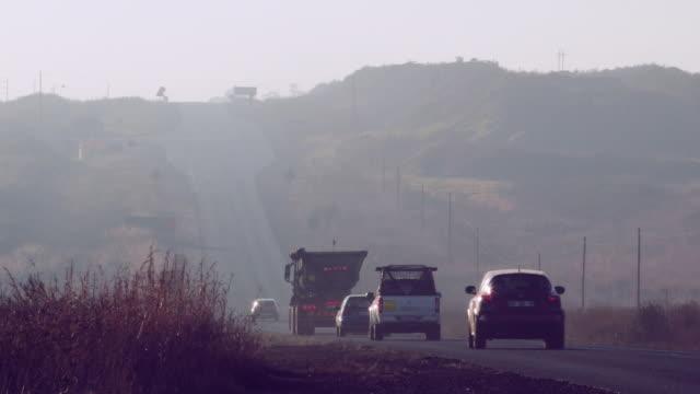 Coal truck transporting coal
