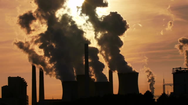 Coal-fired Power Station at Sunset Cinemagraph