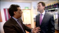 Coalition Cabinet 'away day' Nick Clegg and pthers meet local business leaders in Bradford Clegg and Osborne being shown products on shelf SOT /...