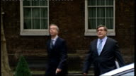 Coalition cabinet meeting arrivals ENGLAND London Downing Street EXT Jeremy Hunt MP arriving at Number 10 for cabinet meeting Unidentifed male...