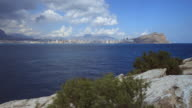 Coast of Benidorm time lapse