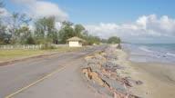 4 K DOLLY : Strada costiera danneggiato dall'erosione