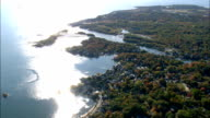 Coastline Around Banford  - Aerial View - Connecticut,  New Haven County,  United States
