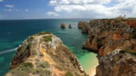 Coastline view of Ponta da Piedade, Lagos, Algarve, Portugal, Europe