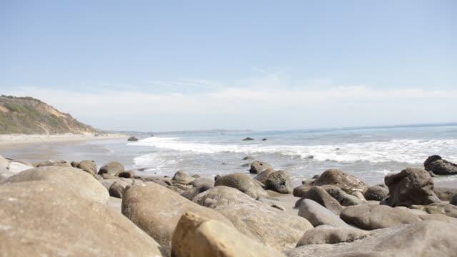 Coastline with waves crashing.