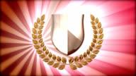 Mantel mit gold shield Krone und laurel