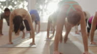 Cobra Position in Yoga Class