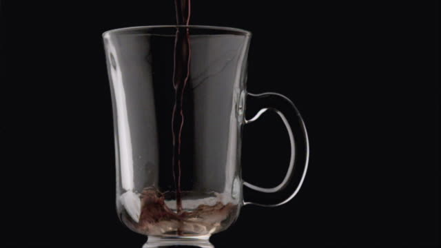 CU SLO MO Coffee being poured into mug / San Francisco, California, USA