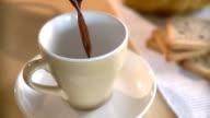 Kaffee gegossen