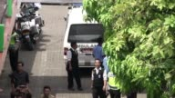 Coffins of Australian drug convicts Myuran Sukumaran and Andrew Chan arrive at a funeral home in Jakarta