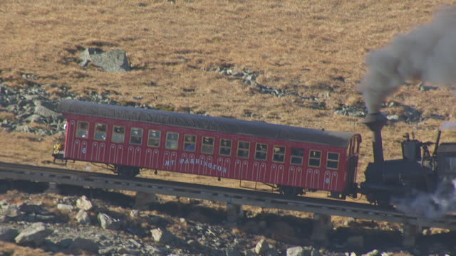 MS TS HA POV Cog railway in Mount Washington State Park / New Hampshire, United States