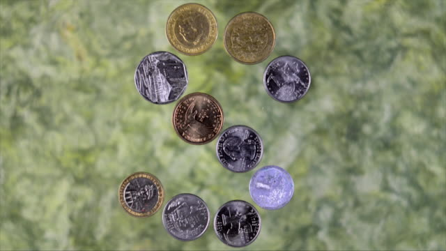 Coins in Stop Motion