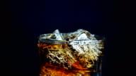 cola black background 4k