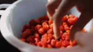 Colander Full of Fresh Raspberries