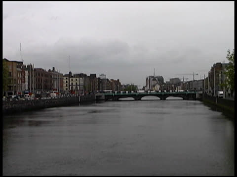 Cold Dark Spring Day, Autumn On Dublin's River (Wide) (Ireland)