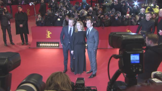 Colin Firth Laura Linney Jude Law at 'Genius' Red Carpet 66th Berlin International Film Festival on February 16 2016 in Berlin Germany