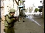 Colin Powell meets Yasser Arafat POOL GVs Israeli troops along on patrol thru Manger Square